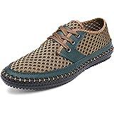 Shenn Men's Breathable Outdoor Sport Green Mesh Fashion Sneakers 1605 US8