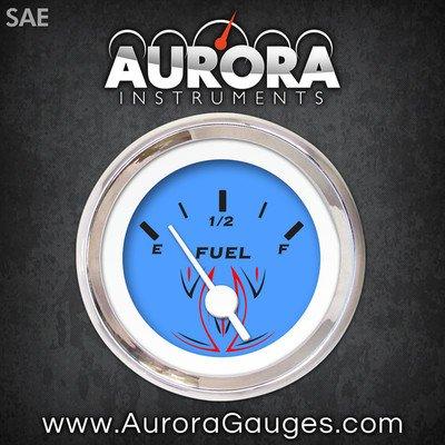 GAR126ZEXKABAD Aurora Instruments Pinstripe Blue Fuel Level Gauge 1103