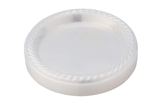 Platos de plástico transparente, desechables, 7 pulgadas ...