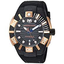 Technomarine Men's 'Reef' Quartz Stainless Steel and Silicone Casual Watch, Color:Black (Model: TM-515029)