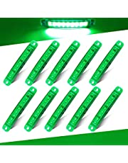 Teguangmei 10 pcs 3.9'' 9 LED Side Marker LED Trailer Indicator Lights Yellow Front Rear 12V-24V LED Clearance Lamps for Trucks Cab RV Marker Light Trailers Lorries Boat Side Lights