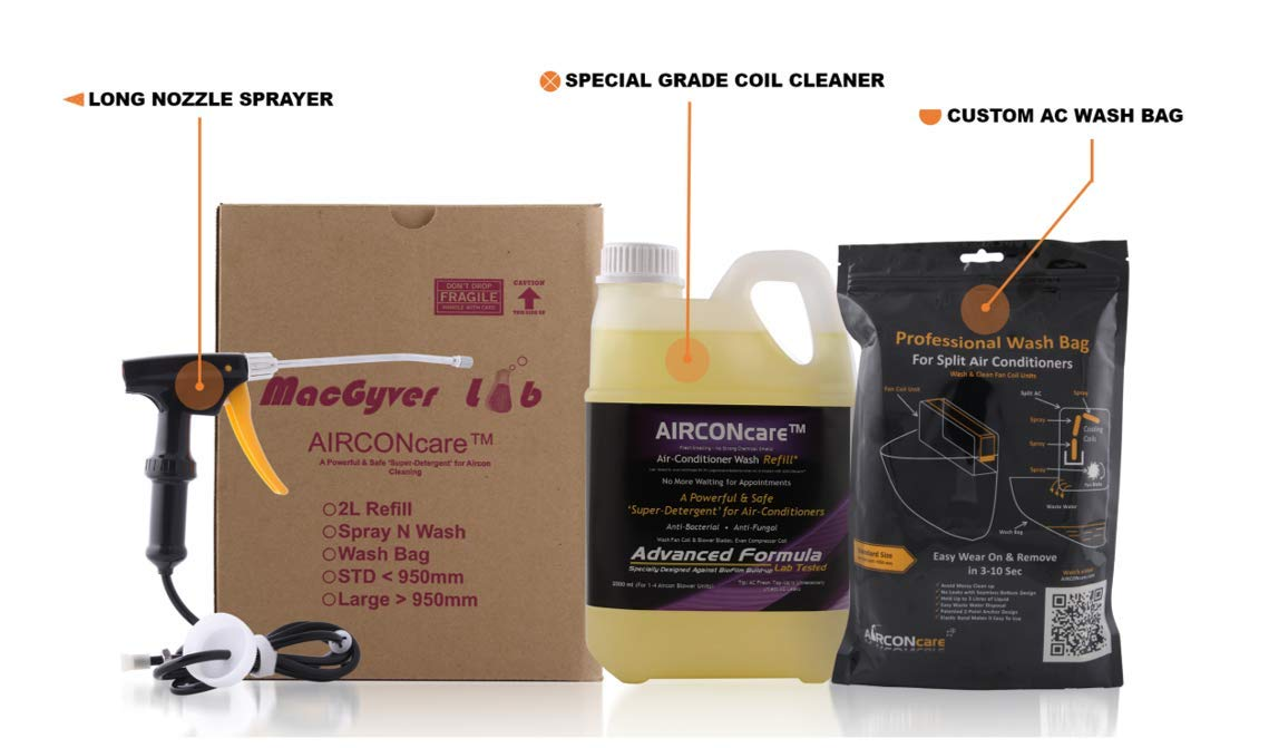 Air Conditioner Cleaning Kit (Large) MacGyver Lab CLNKT-LRG