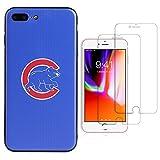 "Sportula MLB Phone Case matching 2 Premium Screen Protectors Extra Value Set - for iPhone 7 Plus/ iPhone 8 Plus (5.5"") (Chicago Cubs)"