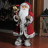 Northlight 24″ Alaskan Arctic Standing Santa Claus Christmas Figure with Lantern and Gift Bag Review