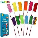 YGEOMER 12pcs Rhythmic Dance Ribbons Gym Ribbons Streamers Dancing Streamers, Rotating Baton, for Artistic Dancing