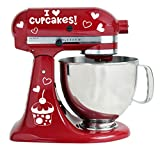 i mixer - I Love Cupcakes With Cupcake Design Kitchenaid Mixer Mixing Machine Decal Art Wrap