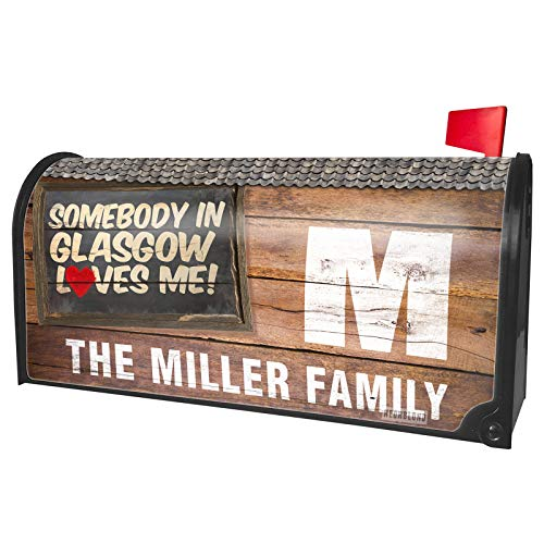 NEONBLOND Custom Mailbox Cover Somebody in Glasgow Loves me, Scotland