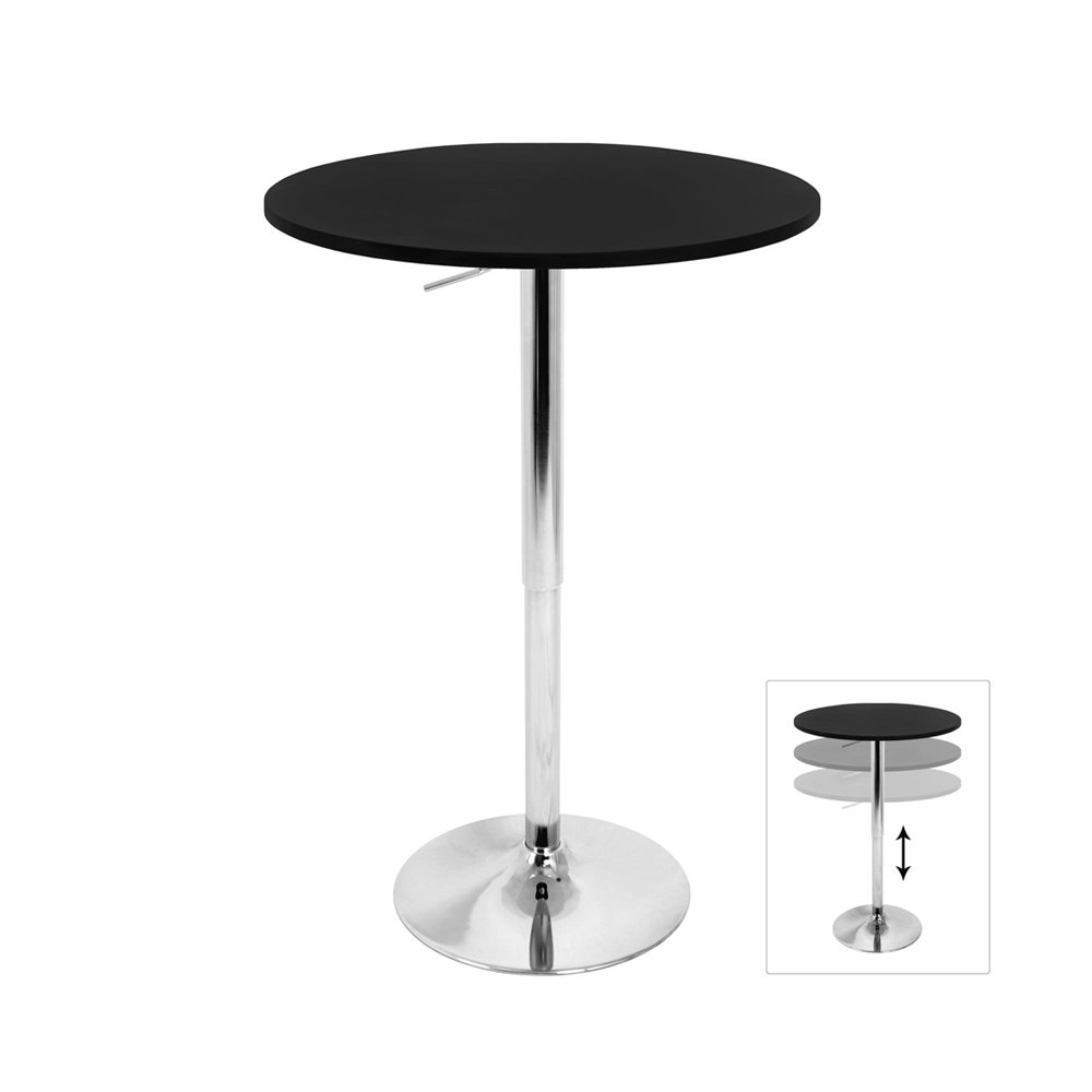 Lumisource Adjustable Bar Table In Black Inc BT-TLELIA27 BK