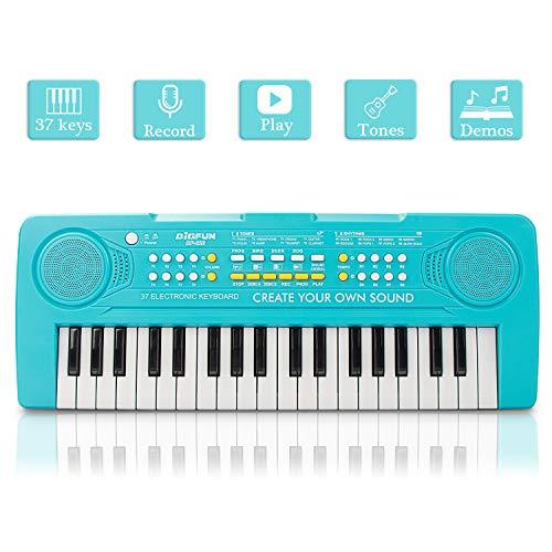 (JINRUCHE Kids Piano, 37Keys Multi-Function Electronic Keyboard Piano Play Piano Organ Music Educational Toy for Toddlers Children)