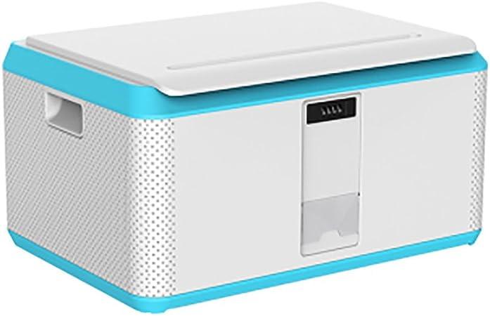 Qiansejiyichuwuhe Caja de Almacenamiento Caja de Almacenamiento para automóvil Caja de Acabado Contraseña Plástico Grande con Cerradura (Color : 3): Amazon.es: Hogar