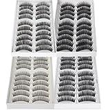 Black Long & Thick Reusable False Eyelashes Fake Eye Lash for Makeup Cosmetic - 4 Kinds of Style?-40pairs