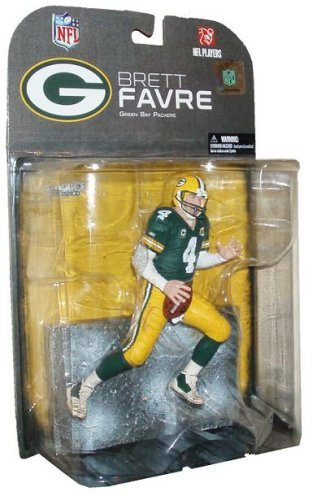 McFarlane's Sportpicks NFL 6 Inch Tall Football Player Figure - #4 Green Bay Packers Brett Favre with Display Base