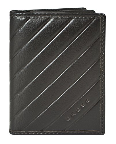 Cross Men's Genuine Leather Business Card Case with ID Window Slot (Grabado Espanol_OAK - Oroton Bag Man