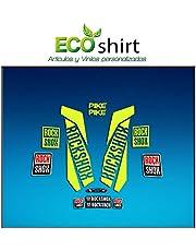 Ecoshirt GI-I4HM-S2TI Pegatinas Stickers Fork Rock Shox Pike 2017 Am158 Aufkleber Decals Autocollants Adesivi Forcela, Amarillo Fluor 029