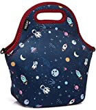 Lunch Box Bag for Kids,Vaschy Neoprene Insulated Lunch Tote with Detachable Adjustable Shoulder Strap in Cute Astronaut