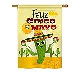 Cheap Ornament Collection H192058 Feliz Cinco De Mayo Decorative Vertical House Flag, 28″ x 40″, Multicolor