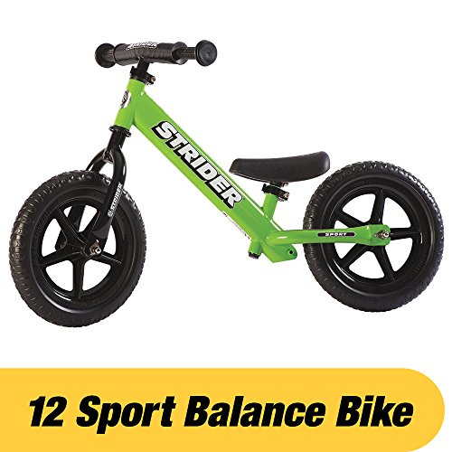 Strider - 12 Sport Balance Bike, Ages 18 Months to 5 Years, Green (Step Horse Trailer)