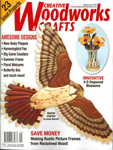 Creative Woodwork , September 2008 - Dogwood Plaque
