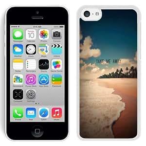 NEW Unique Custom Designed iPhone 5C Phone Case With Take Me Away Exotic Beach Shore_White Phone Case