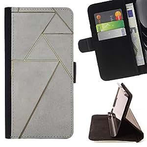Momo Phone Case / Flip Funda de Cuero Case Cover - Piso Diseño arte de la pared - Samsung Galaxy S6 Edge Plus / S6 Edge+ G928