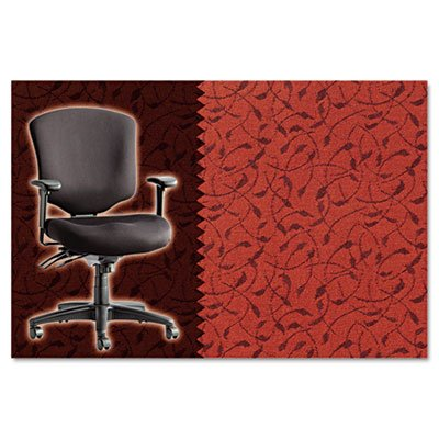 Alera Wrigley Pro Series Mid-Back Multifunction Chair, Whirl Tomato (Whirl Tomato)
