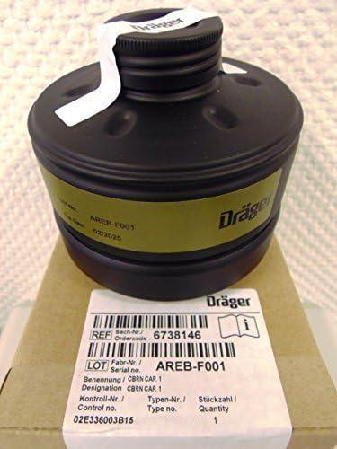 Dr/äger ABC Respirator Filter with DIN EN Thread CBRN Cap 1