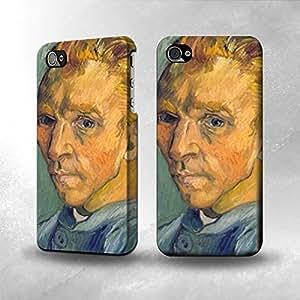 Apple iPhone 4 / 4S Case - The Best 3D Full Wrap iPhone Case - Van Gogh Vase Fifteen Sunflowers V