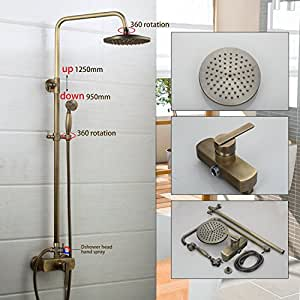 "8"" Shower Head Wall Mounted Bathroom with Handheld Shower"