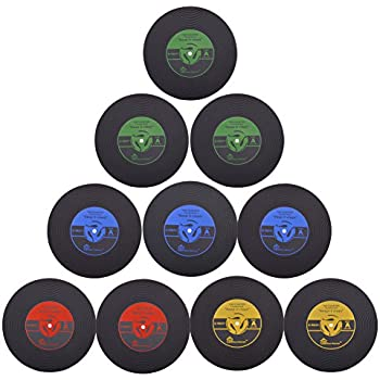 this item coasters for drinks set of 10 vintage vinyl record retro mats soft rubber cup mat drinks absorbent for wine glass tea coffee table mug beer - Drink Coasters