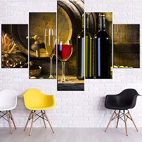 - TUMOVO Wall Pictures for Living Room Red Wine Paintings Bottle and Barrel Artwork Multi Piece Prints Wall Art on Canvas Modern Home Decor Wooden Framed Gallery-Wrapped Ready to Hang(60''Wx40''H)