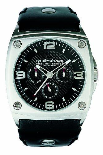 Quiksilver Harrington - Reloj de caballero de cuarzo, correa de piel color negro