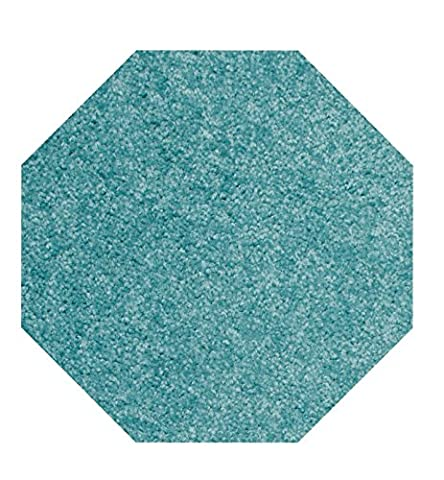 Home Queen Solid Color Octagon Shape Teal 7' Octagon - Area Rug (Octagon Shape Rugs)