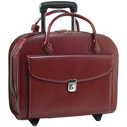 McKleinUSA 15.4' Leather Wheeled Ladies' Laptop Briefcase