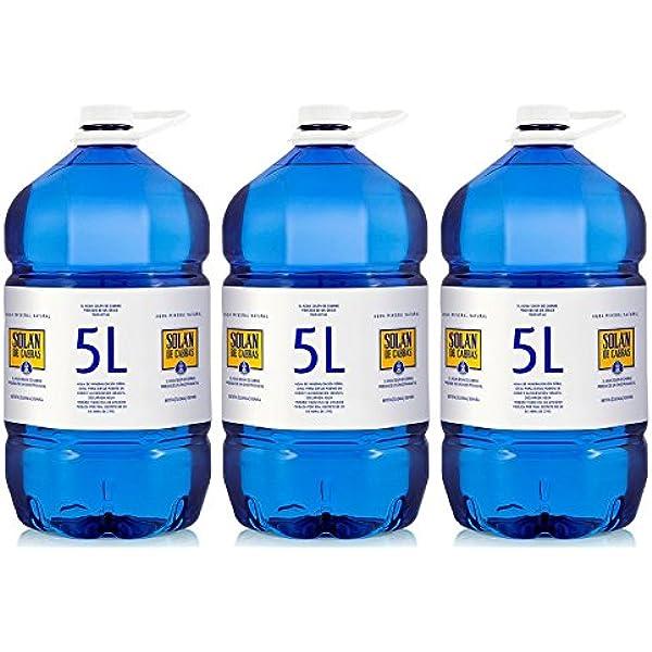 Solán de Cabras - Agua Mineral Natural 5 L - [Pack 3]: Amazon.es ...