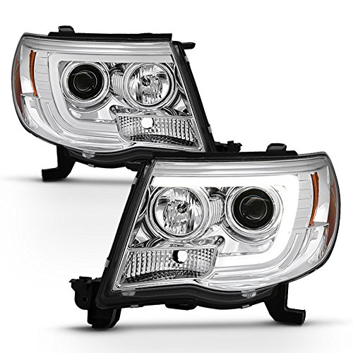 ACANII - For 2005-2011 Toyota Tacoma Pickup LED Tube Projector Headlights Pre X Runner Headlamps Driver+Passenger Side