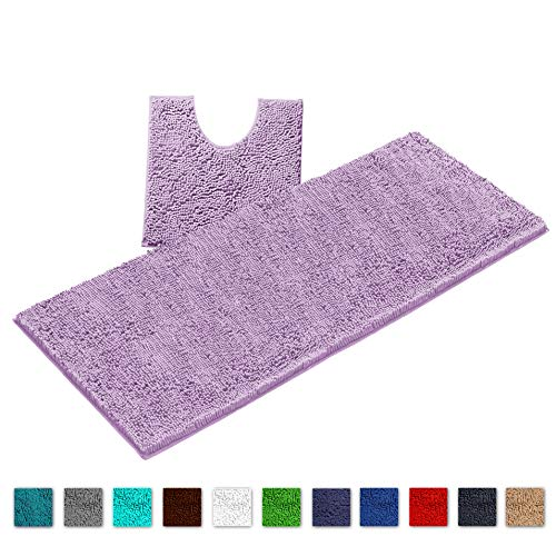 Extra-Soft Fluffy Plush Non-Slip Shower Bath Mat Bathroom Rugs By LuxUrux