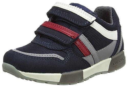 Geox J Alfier Boy C, Zapatillas Para Niños Azul (Navy/grey)