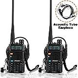 Ansoko Walkie Talkies Dual Band VHF 136-174Mhz & UHF 400-520Mhz Amateur 2 Way Radios (2 Pack)