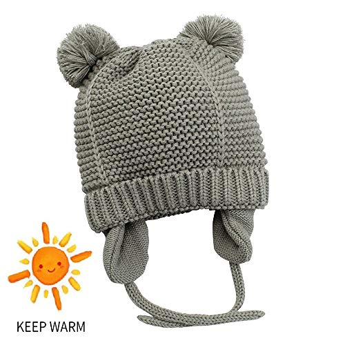 9093588eeef Century Star Toddler Unisex Baby Boy Girl Infant Winter Hats Cute Bear  Fleeced Children Earflap Pom