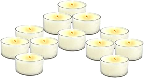 Sandalwood Earth Tea Light Soy Candle 6-pack for Energy Healing Spirituality and Meditation
