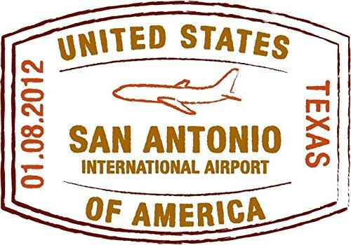 Travel International Airport San Antonio Texas USA Grunge Stamp Sign Sticker Decal Design 5