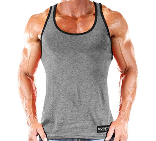 Workout Clothes Tank Top Grey/Black