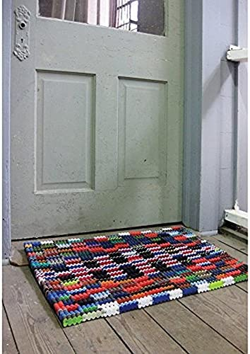 Reclaimed Flip-Flop Door Mat Rectangle Welcome Mat – Easy Clean Durable Sturdy