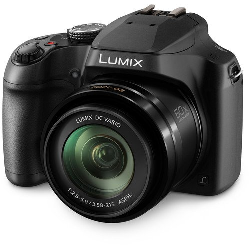 - PANASONIC LUMIX FZ80 4K Digital Camera, 18.1 Megapixel Video Camera, 60X Zoom DC VARIO 20-1200mm Lens, F2.8-5.9 Aperture, POWER O.I.S. Stabilization, Touch Enabled 3-Inch LCD, Wi-Fi, DC-FZ80K (Black)