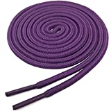 YJRVFINE Round Shoelaces Boots Shoe Laces String Rope Dark Purple 2 Pair- Length:106.30''