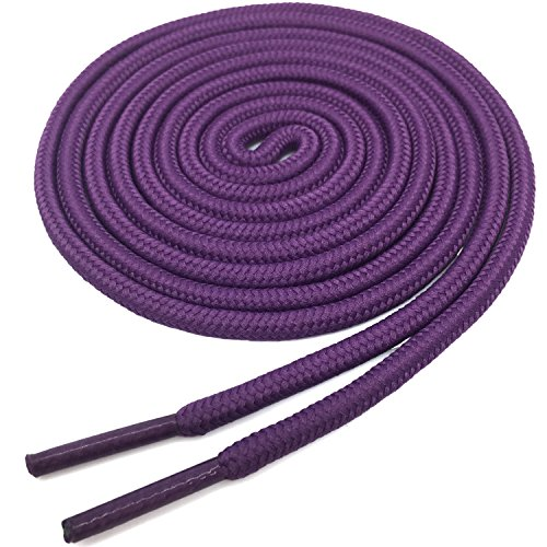 YJRVFINE Round Shoe Laces String Shoelaces Athletic Shoelace Dark Purple 2 Pair- -