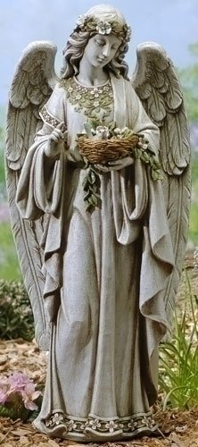(Angel Holding Nest Statue)