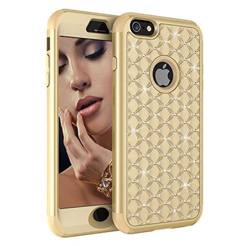 iPhone 6 Plus Case,iPhone 6S Plus Case,UZER 3in1 Shockproof Glitter Sparkle 3D Bling Hard PC Soft Silicone Combo Hybrid Impact Defender Full-Body Protective Case Cover for iPhone 6 Plus/ 6S Plus