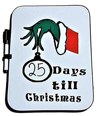 How Many Days Before Christmas.Amazon Com Christmas Countdown Timer Dry Erase White Board