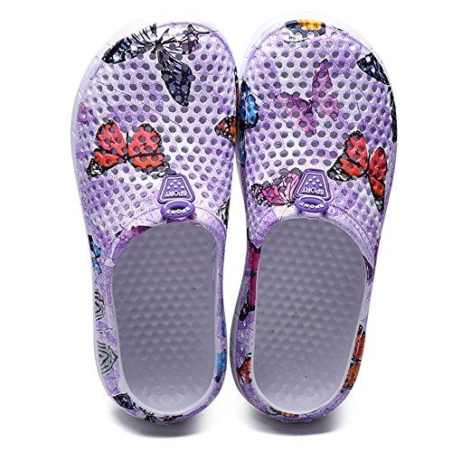 Outdoor Chaussons Chaussures Jardin Sandales Homme Piscine B Violet Bains De Eagsouni Femme Salle Mules Plage Sabots tqUwxSavgP